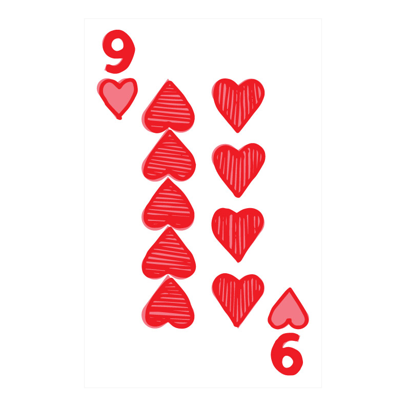 Hand drawn Playing Card Designs Hearts Emily Longbrake