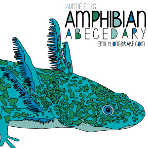 Amphibian Abecedary Coloring Book